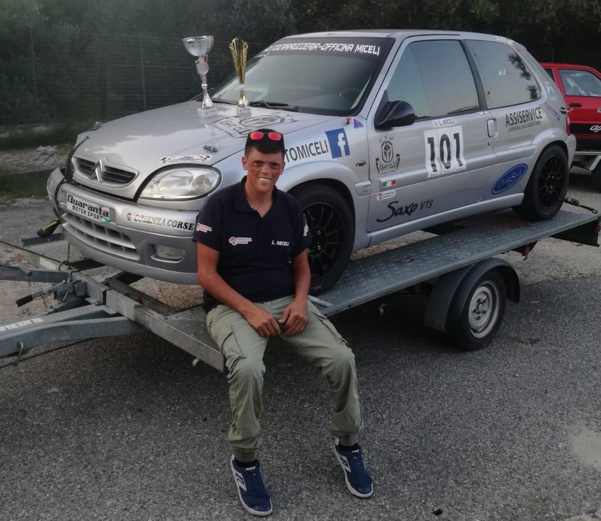 Il pilota Lametino Luca Miceli conquista il secondo Slalom di Oppido