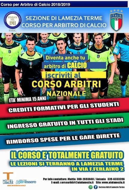 Corso Nazionale per arbitri di calcio Stagione Sportiva 2018/2019