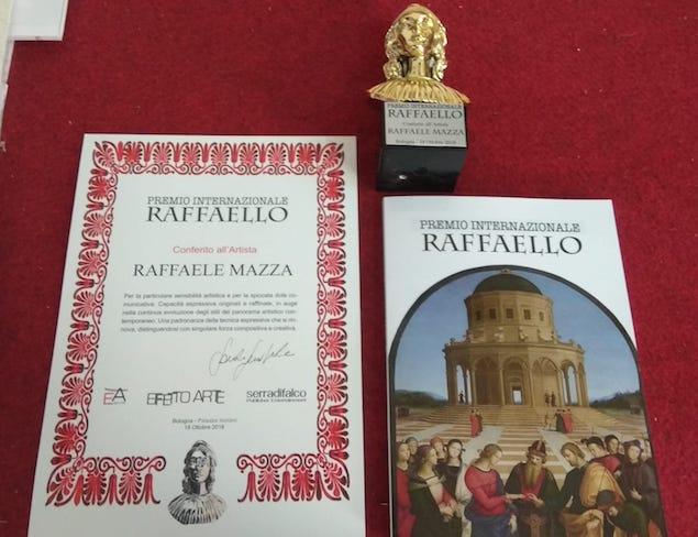 Raffaele Mazza vince il Premio Internazionale Raffaello