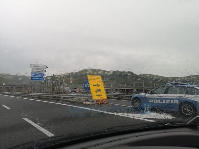 traffico rallentato sull ss280 per incidente