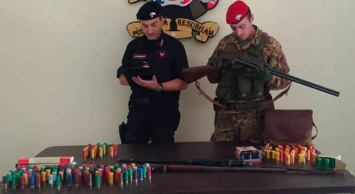Un arresto dei carabinieri a Taurianova per detenzione illegale armi clandestine