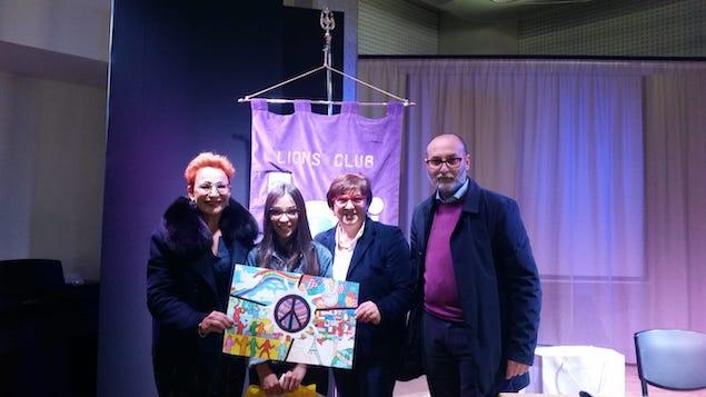 Lions premia vincitrice concorso un premio per la pace