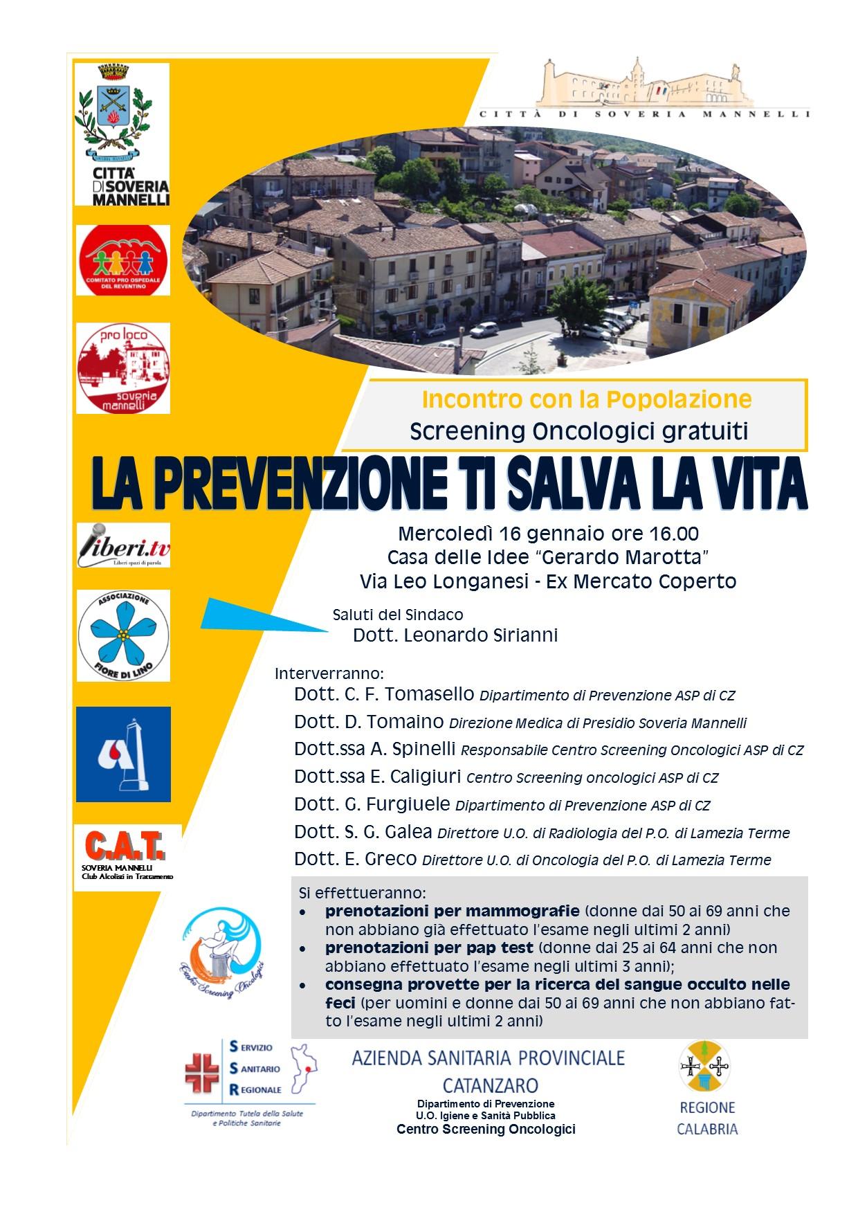 a soveria si parla di prevenzione e screening-LameziaTermeit