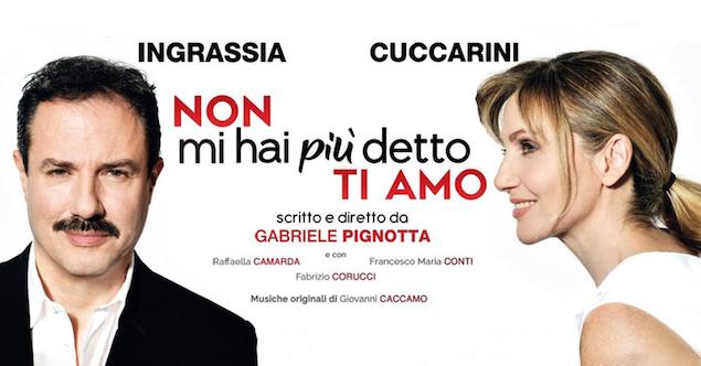 Non mi hai detto più ti amo, a teatro con Lorella Cuccarini e Giampiero Ingrassia