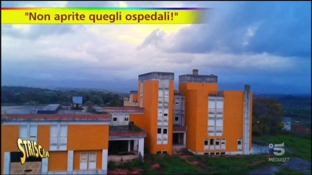 Striscia la Notizia in Calabria tra gli ospedali inutilizzati