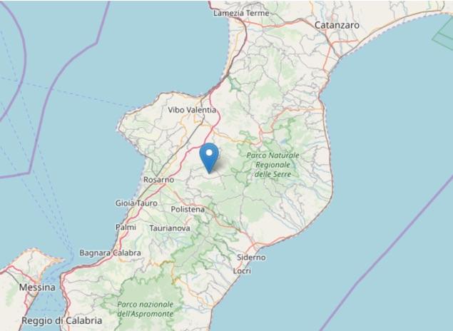 Terremoto di magnitudo 2.3 ML a San Pietro di Caridà (RC)