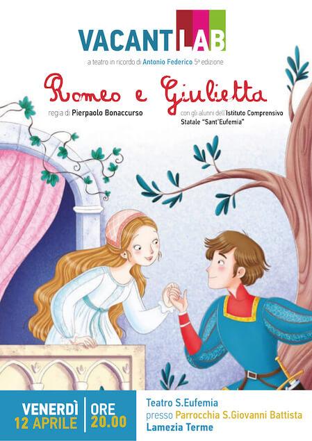 Il 12 aprile lo spettacolo Romeo e Giulietta in ricordo del piccolo Antonio Federico