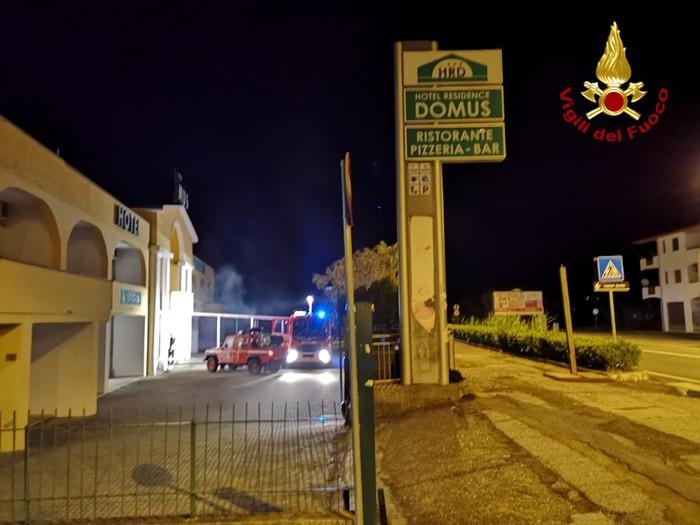 Santa Maria del Cedro (CS). Fiamme in un albergo, nessun ferito