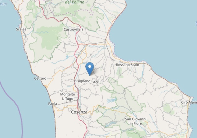 Terremoto di magnitudo 2.4 ML a Santa Sofia d'Epiro (CS)
