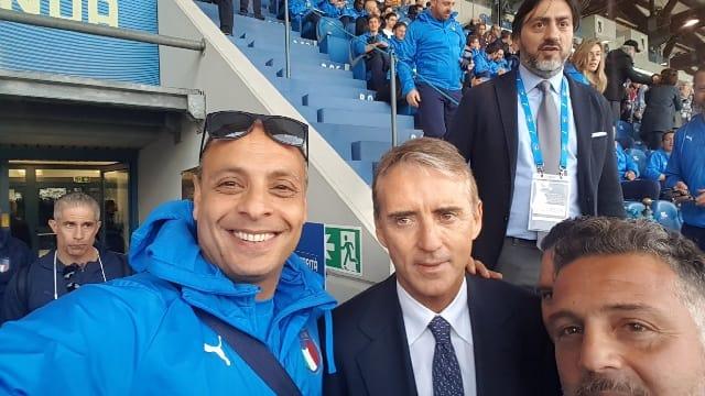 Antonio Gatto col Ct Mancini