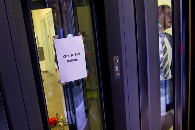 Banche, in Calabria rapine quasi azzerate