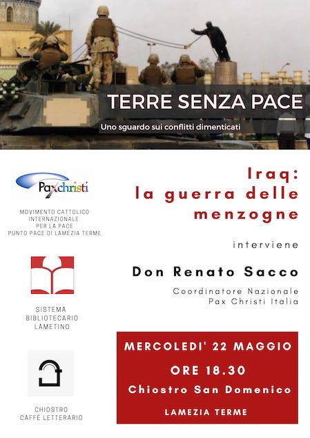 Iraq: la guerra delle menzogne. Incontro promosso da Pax Christi al Chiostro