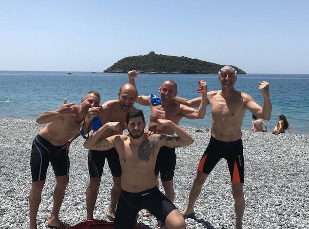 Gli atleti della Arvalia Lamezia impegnati al 2° Trofeo Isola di Cirella