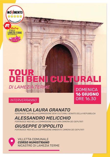 """Lamezia. Meetup 5 Stelle organizza terza tappa del """"Tour dei beni culturali"""""""