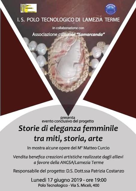 """Lamezia. Evento conclusivo del progetto """"Storie di eleganza femminile, tra miti, storia, arte"""""""