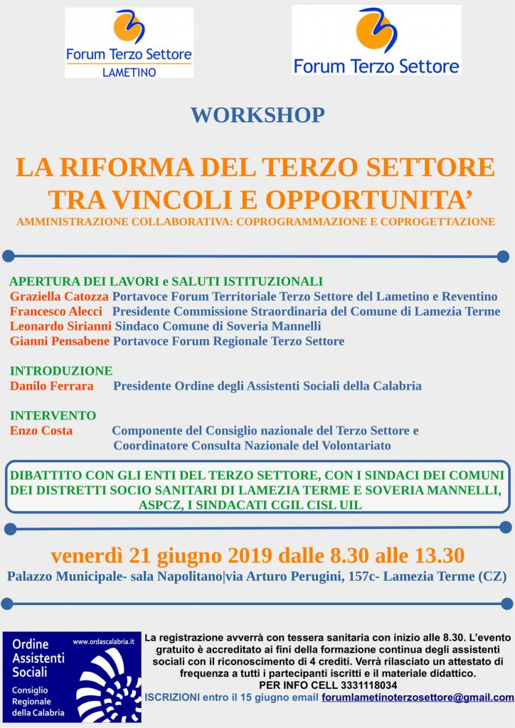 workshop del forum del terzo settore-LameziaTermeit