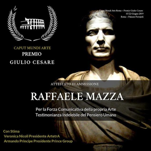 Raffaele Mazza riceve il premio internazionale Giulio Cesare