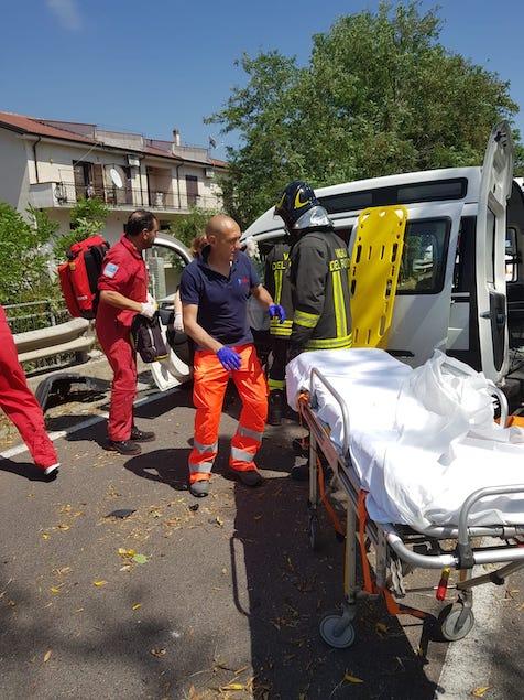 Statale 18. Grave incidente tra Falerna e Nocera: ferita donna disabile