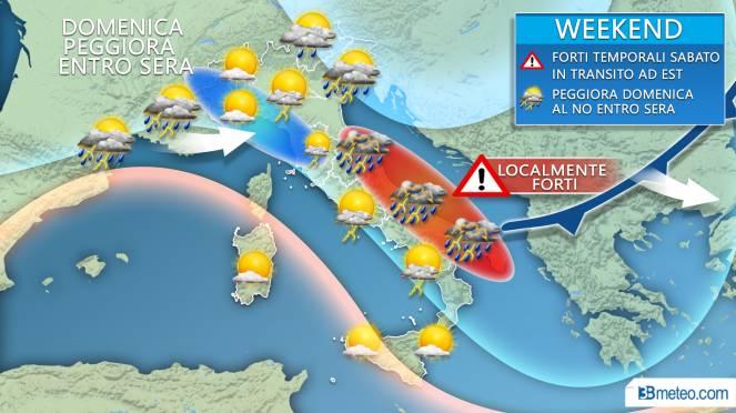 Allerta Meteo, piogge e temporali in Calabria nel weekend