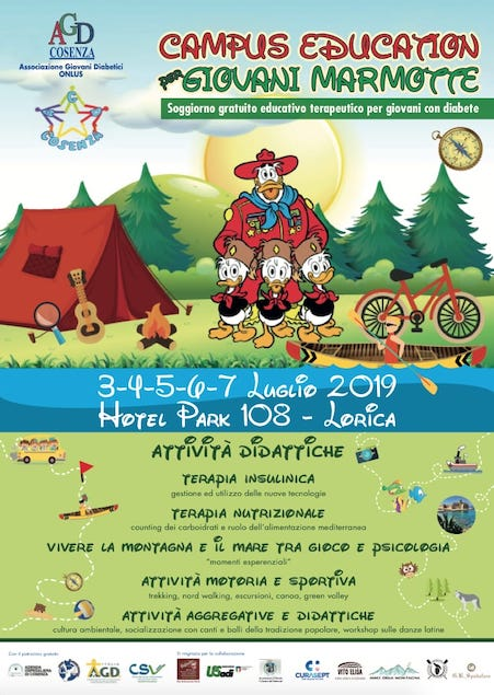 Campus gratuito a Lorica per giovani diabetici