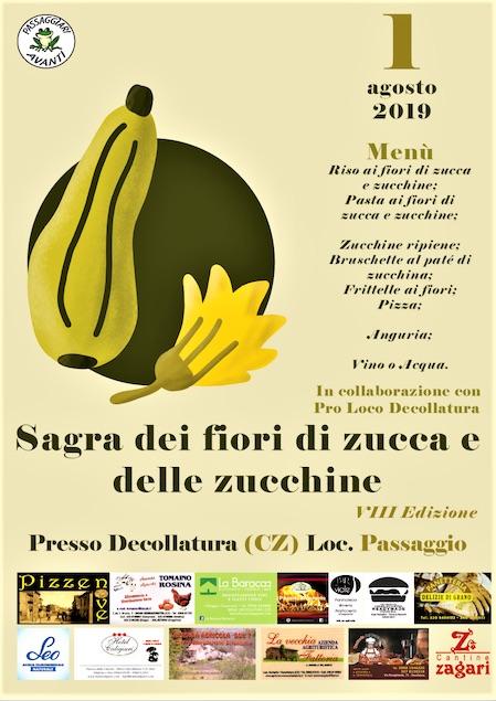 A Decollatura l'ottava edizione della sagra dei fiori di zucca e di zucchine