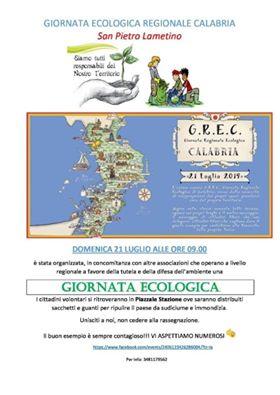 Lamezia. Il 21 Luglio la Giornata Ecologica Regionale