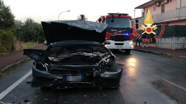 Lamezia. Incidente stradale in via dei Bizantini, due feriti
