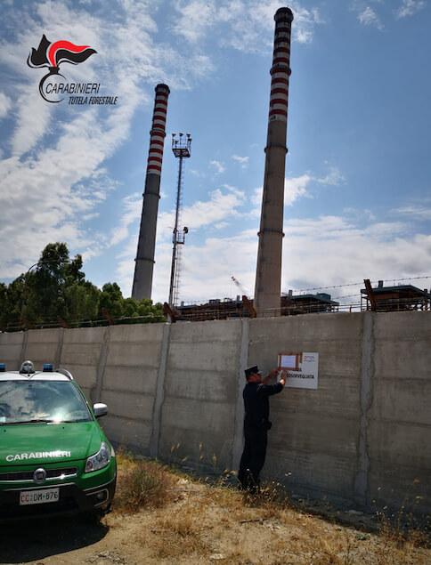 Sequestrato muro della centrale Enel a Rossano