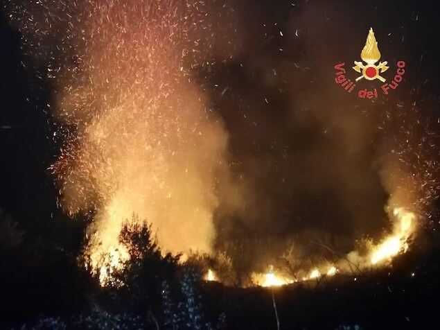 Incendi in Calabria, 45 roghi nella giornata di ieri
