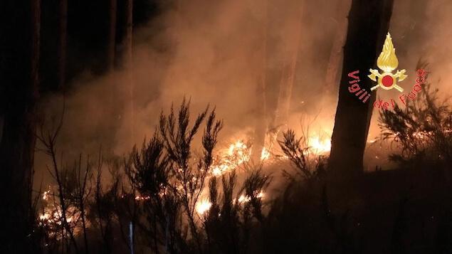 Notte impegnativa per le squadre dei vigili del fuoco nel lametino
