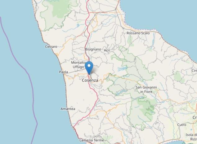 Terremoto di magnitudo 2.6 ML a Castiglione Cosentino (CS)