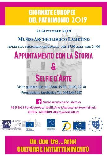 Appuntamento con la Storia e Selfie d'arte al Museo archeologico lametino