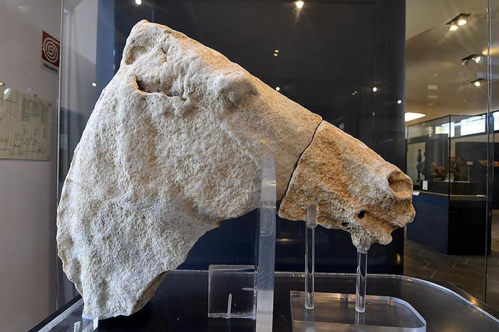Esposto al Museo archeologico di Capocolonna reperto tempio Hera Lacinia