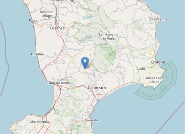 Terremoto di magnitudo 2.5 ML a Cicala (CZ)