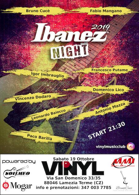 "Arriva la prima ""Ibanez Night"" a Lamezia Terme"