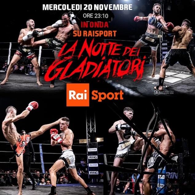 Daniele Miceli alla notte dei gladiatori stasera su RAI sport