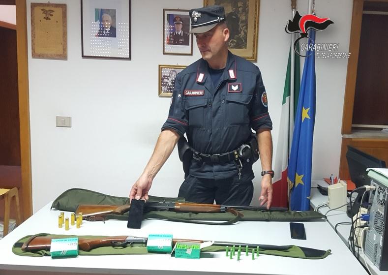 Lamezia. Attività antibracconaggio, sequestrati fucili e munizioni