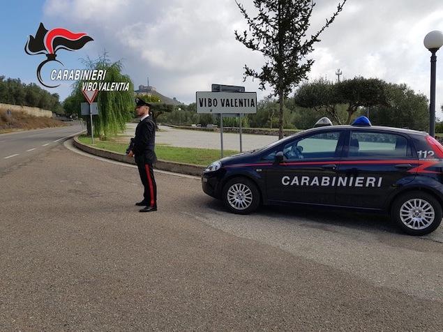 Posto di blocco carabinieri Vibo Valentia