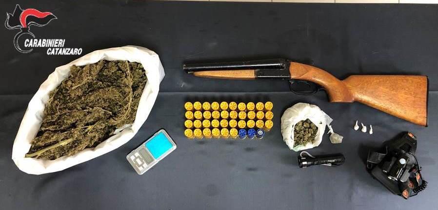 Girifalco (CZ). Droga e armi, arrestato 24enne