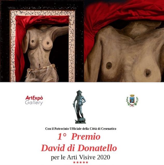 Raffaele Mazza riceve il 1° Premio David di Donatello per le Arti Visive 2020