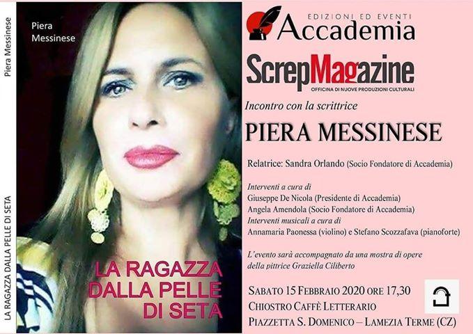 Lamezia. Piera Messinese presenta al Chiostro il suo nuovo libro