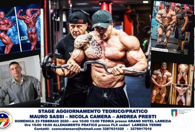 A Lamezia stage con Andrea Presti, campione internazionale bodybuilding