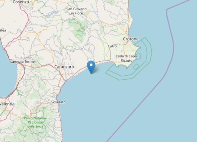 Terremoto: scossa di magnitudo ML 2.0 a Sellia Marina
