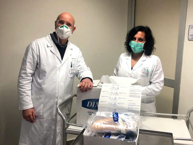 Consegnati 10 caschi respiratori al presidio ospedaliero di Lamezia Terme