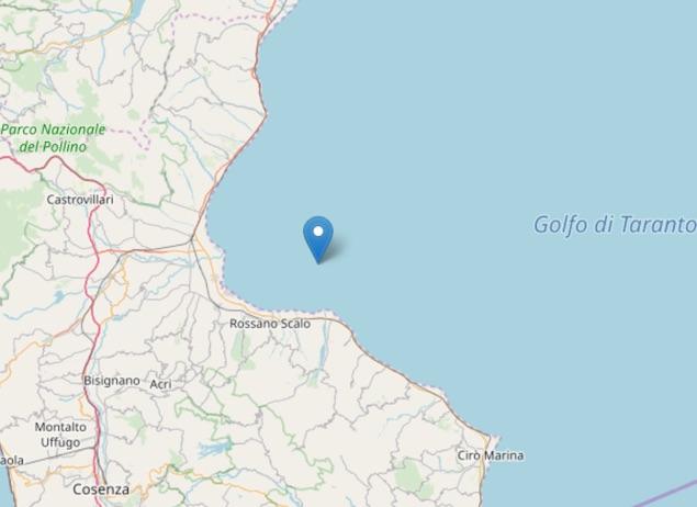 Terremoto: scossa di magnitudo ML 2.0 sulla Costa Ionica Cosentina