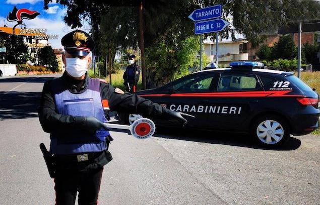 Posto di controllo dei carabinieri di Reggio Calabria