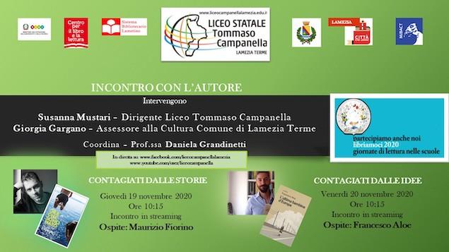 """Al Liceo """"T. Campanella"""" le giornate di lettura si trasformano in eventi in streaming"""