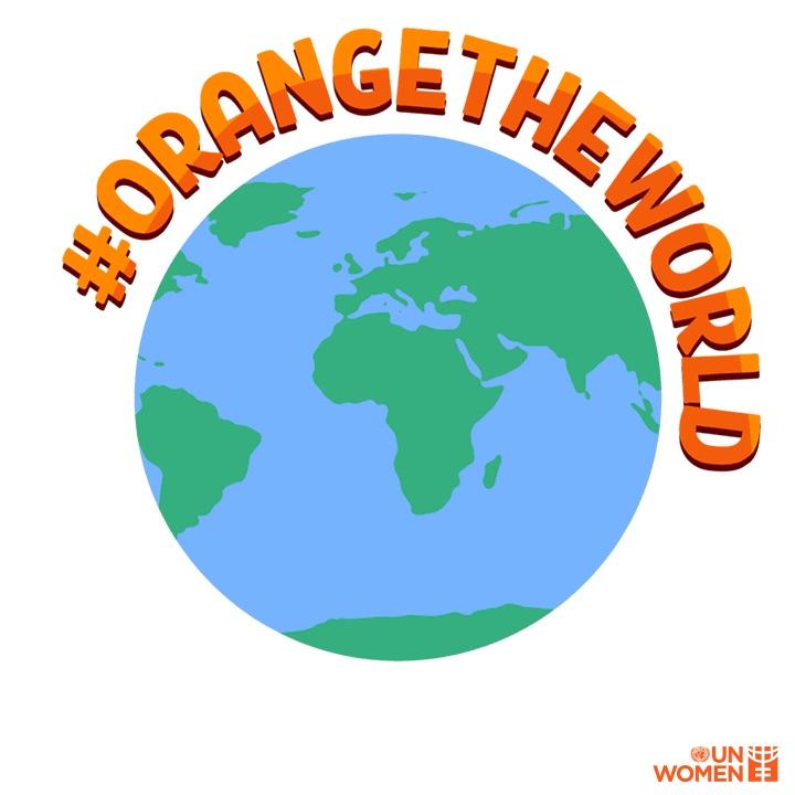 orange the world globe