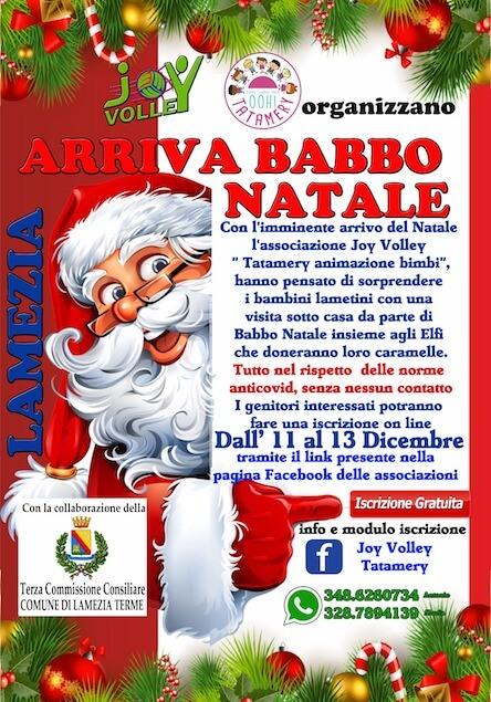 Arriva Babbo Natale: al via iniziativa promossa da Joy Volley e da Tatamery