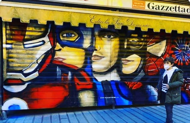 Lamezia. SquadRebel realizza opera dedicata ai supereroi